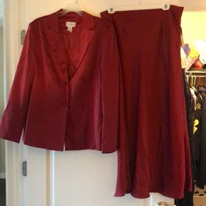 Burgundy skirt Suit by Jaclyn Smith